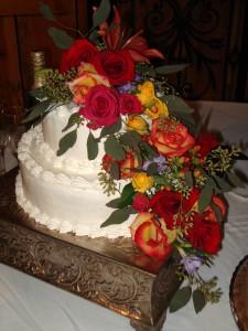 Fall Floral Cascade Cake